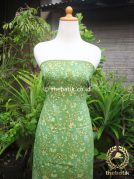 Kain Batik Katun Jepang Motif Floral Hijau Coletan
