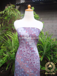 Kain Batik Katun Jepang Motif Lereng Bunga Ungu