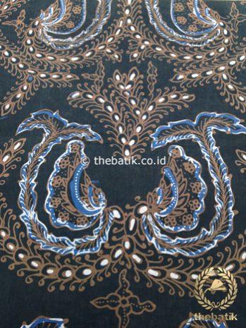 Kain Batik Tulis Warna Alam Motif Babon Angrem Latar Hitam