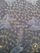Kain Batik Tulis Warna Alam Floral Kupu Abu-Abu