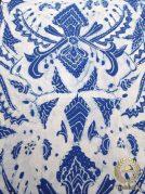 Kain Batik Tulis Warna Alam Indigo Pisan Bali Latar Putih