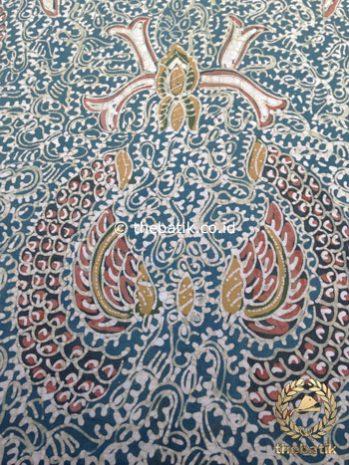 Kain Batik Tulis Warna Alam Motif Semen Indigo