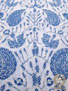 Kain Batik Tulis Warna Alam Indigo Sidoasih Latar Putih