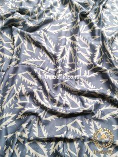 Atasan Batik Sutera Bahan Rok Baju Kebaya Kain Bawahan Abu-Abu