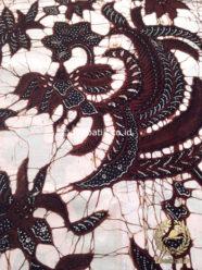 Kain Batik Tulis Motif Burung Latar Putih