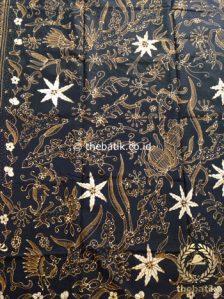 Jual Kain Batik Tulis Motif Floral Coklat Latar Hitam  c2ce58a920