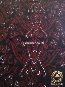 Kain Batik Tulis Motif Pisan Bali Latar Hitam