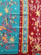 Sarung Batik Tulis Warna Marun Tumpal Tosca
