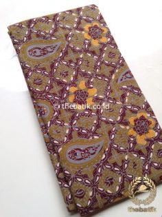 Kain Batik Cap Tulis Bahan Baju Warna Kehijauan