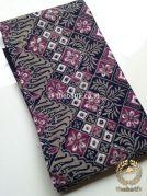 Kain Batik Cap Tulis Bahan Baju Warna Hitam Ungu