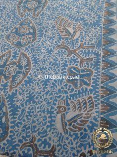 Kain Batik Tulis Warna Alam Wahyu Tumurun Abu-Abu Indigo