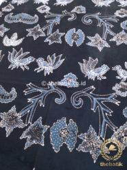 Kain Batik Tulis Warna Alam Wahyu Tumurun Hitam Indigo