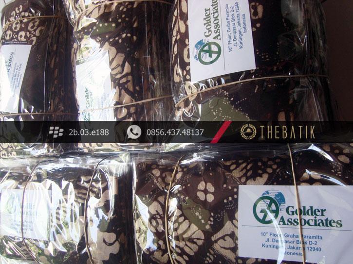 Syal Batik untuk Sovenir Event Perusahaan - Golder Associates Indonesia