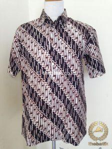 Kemeja Batik Pendek Motif Parang Seling Jogja