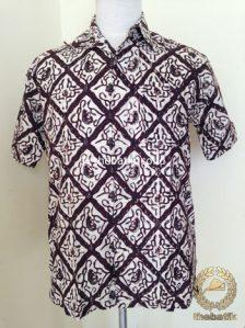 Kemeja Batik Pendek Motif Sido Luhur