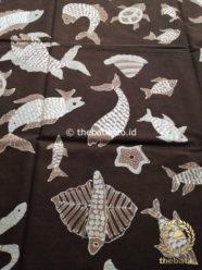 Kain Batik Tulis 2,5 m Warna Alam Ikan Udang Coklat Hitam