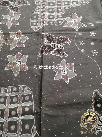 Kain Batik Tulis Warna Alam Motif Pulau Kawung Kupu