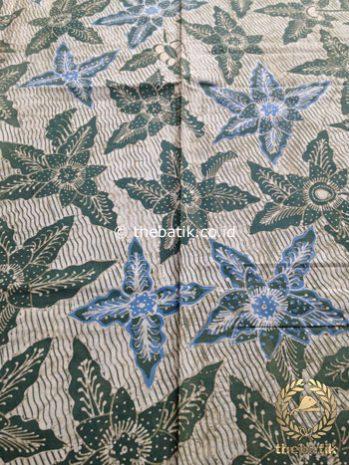 Kain Batik Tulis Warna Alam Bantulan Gringsing Hijau Biru