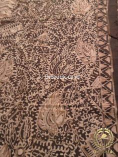 Kain Batik Tulis Warna Alam Motif Semen Warna Coklat