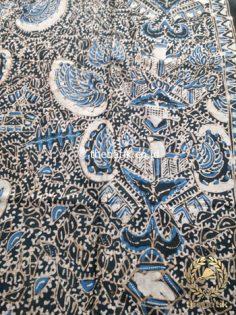 Kain Batik Tulis Warna Alam Motif Semen Indigo Hitam