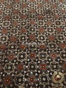Bahan Kain Baju Batik Warna Alam Motif Ceplok Klasik