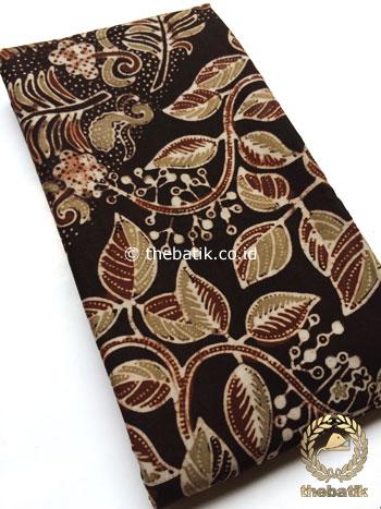 Bahan Kain Baju Batik Warna Alam Daun Paku Klasik