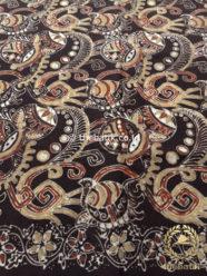 Bahan Kain Baju Batik Warna Alam Motif Ikan Kontemporer
