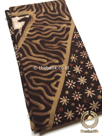 Bahan Kain Baju Batik Warna Alam Motif Pulau Kombinasi