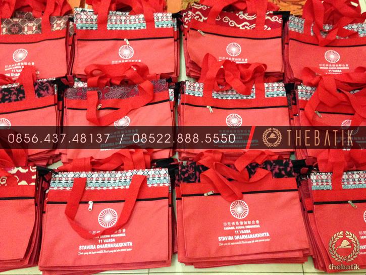 Tas Event Souvenir Batik Eksklusif Model Warna Bebas