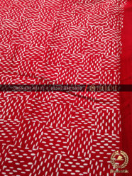 Kain Bahan Baju Batik 2 Meteran Motif Anyaman Merah