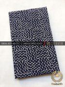 Kain Bahan Baju Batik 2 Meteran Motif Anyaman Biru Dongker