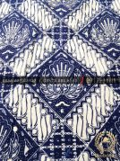 Kain Batik Bahan Baju 2 Meteran Ceplok Gurdo Biru Dongker