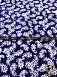 Kain Batik Bahan Baju 2 Meteran Paisley Keongan Biru Dongker