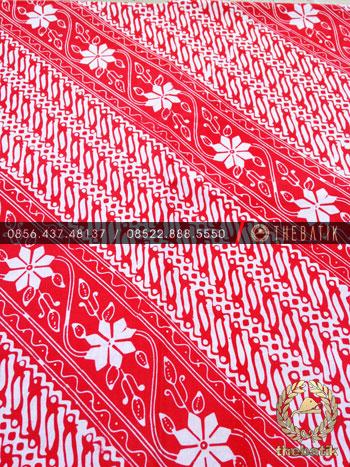 Kain Batik Bahan Baju 2 Meteran Parang Kembang Jambon Pink