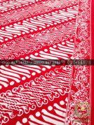 Kain Batik Bahan Baju 2 Meteran Motif Parang Merah
