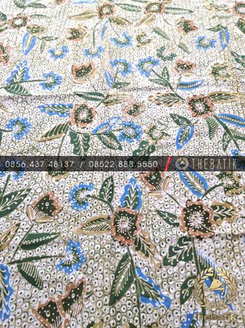 Kain Bahan Baju Batik Tulis Warna Alam Gringsing Floral