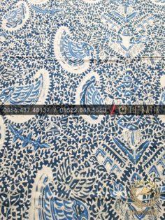 Kain Batik Tulis Warna Alam Bahan Baju Semen Romo Biru