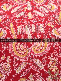 Kain Batik Tulis Jogja Motif Sri Kuncoro Merah