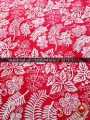 Kain Batik Sleman Motif Parijotho Warna Merah