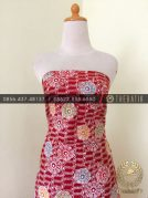 Grosir Kain Batik Primisima Coletan Bunga Floral Merah