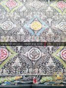 Grosir Kain Batik Primisima Coletan Ceplok Klasik Abu-Abu