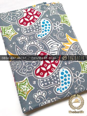 Grosir Kain Batik Primisima Coletan Modern Abu-Abu