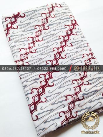Grosir Kain Batik Primisima Coletan Modern Parang Abu-Abu