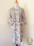 Model Baju Batik Kerja Wanita – Dress Bolero Warna Alam