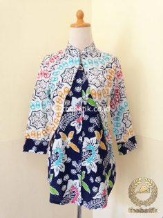 Model Baju Batik Modern Wanita – Dress Rompi Bolero