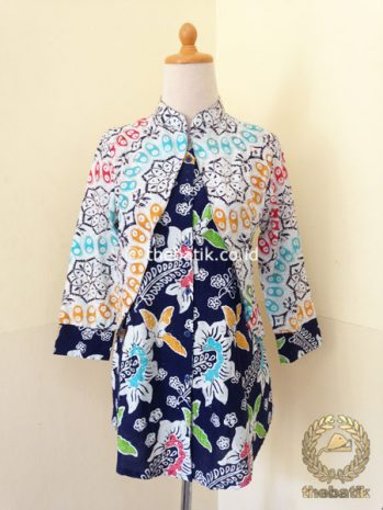 Model Baju Batik Modern Wanita – Dress Rompi Bolero
