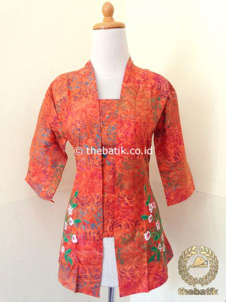 Jual Model Baju Batik Wanita Resmi Kebaya Modern Batik Bordir Thebatik Co Id