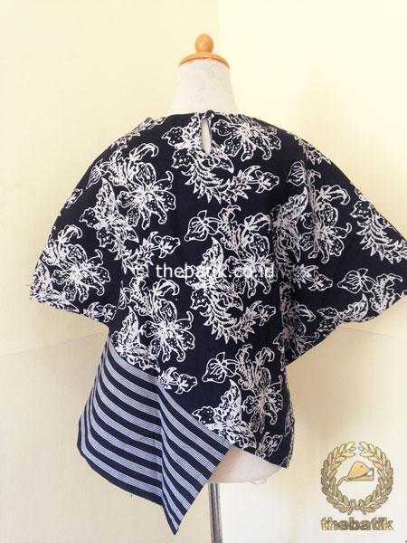Model Baju Batik Kerja Wanita Blus Lurik Bordir Hitam Thebatik Co Id