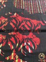 Batik Abstrak Modern Kombinasi Motif Latar Hitam