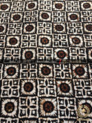 Batik Jawa Klasik Motif Ceplok Matahari Sogan